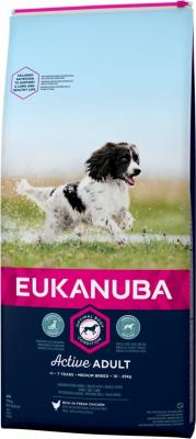 Eukanuba Active Adult Medium Breed Pour Chien de Taille Moyenne