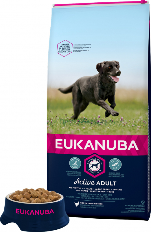 Eukanuba Active Adult Large Breed Pour Chien de Grande Taille