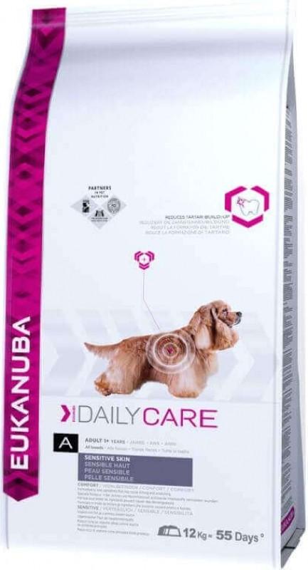 Eukanuba Daily Care Sensitive Skin pour chien Adulte Sensible