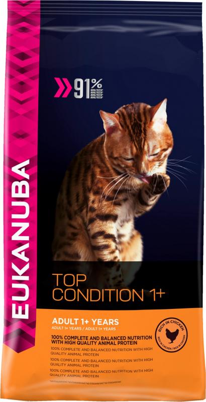 Eukanuba Top Condition 1+ met kip voor volwassen katten