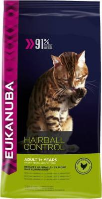 Eukanuba Hairball Control pour chat Adulte - Anti-Boules de Poils