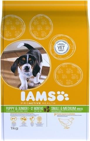 IAMS Puppy Small & Medium au Poulet pour Chiots de Petite et Moyenne Taille