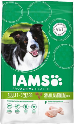IAMS PROACTIVE HEALTH Adult Small & Medium Breed Rich in Chicken
