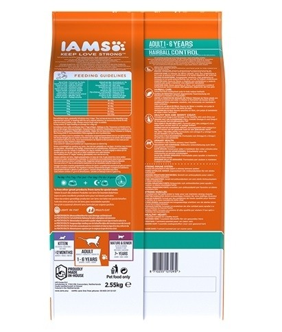 IAMS Hairball Control au Poulet pour chat Adulte
