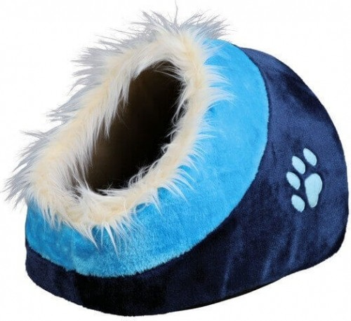 Niche douillet  Minou bleu ou mauve pour chat ou petits chiens_0