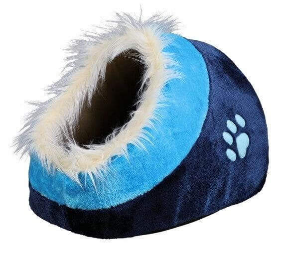 Niche douillet  Minou bleu ou mauve pour chat_0