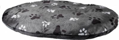 Coussin Gino ovale gris motif empreintes