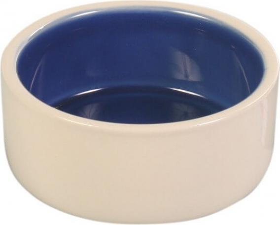 Ecuelle céramique en grès bleu et beige