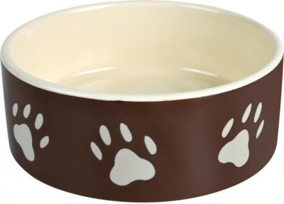 Ceramic Brown Paw Print Bowl
