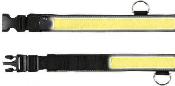 Flash Collier noir et jaune éclairage clignotant ou continu
