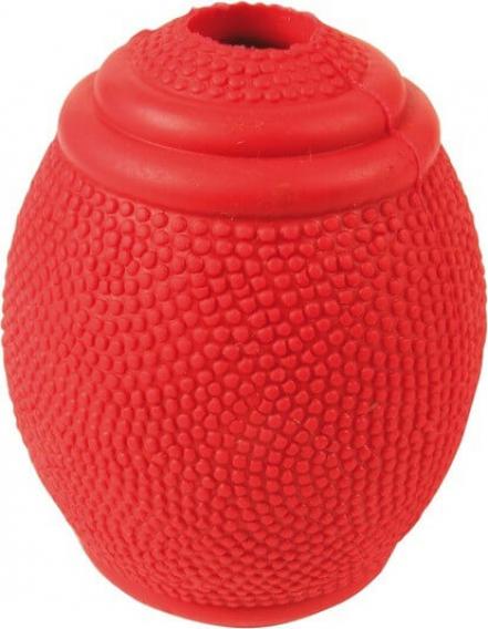 Jouet pour chien Snackball de rugby en caoutchouc naturel 8cm
