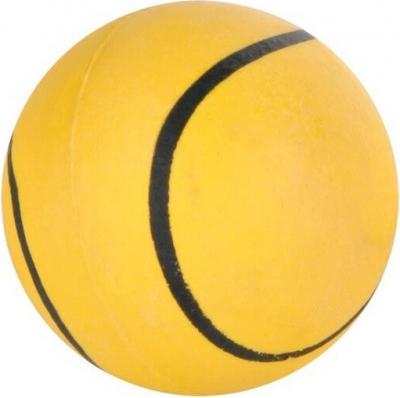 Petite balle en caoutchouc souple, motif sport