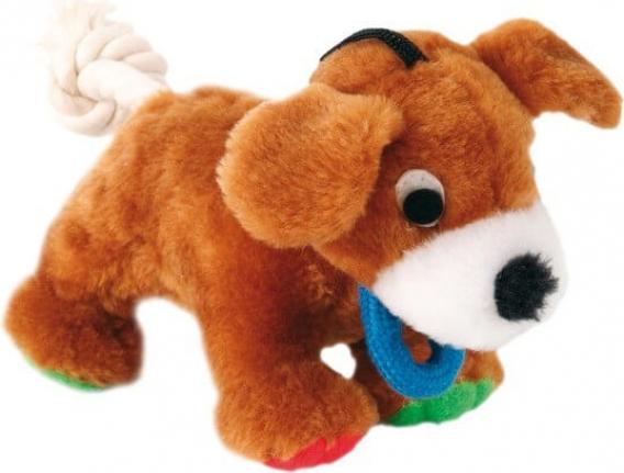 Peluche pour chien avec corde