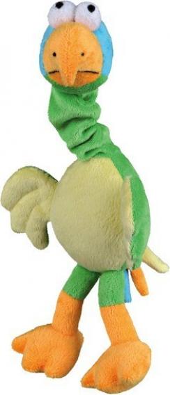 Perroquet en peluche avec son