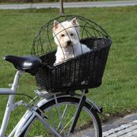 Panier vélo avec grille pour porte bagage