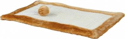 Tapis griffoir en sisal et peluche avec souris