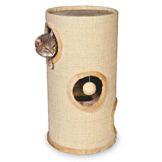 Tour à griffer et arbre à chat avec jouet - 70cm_0