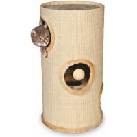 Tour à griffer et arbre à chat avec jouet - 70cm (1)