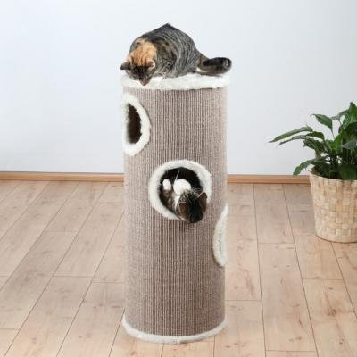 Cat Tower blanco y beige