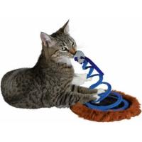 Katzenspielzeug Maus auf einer Sprungfeder