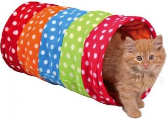 Tunnel de jeu multicolore à pois 50cm