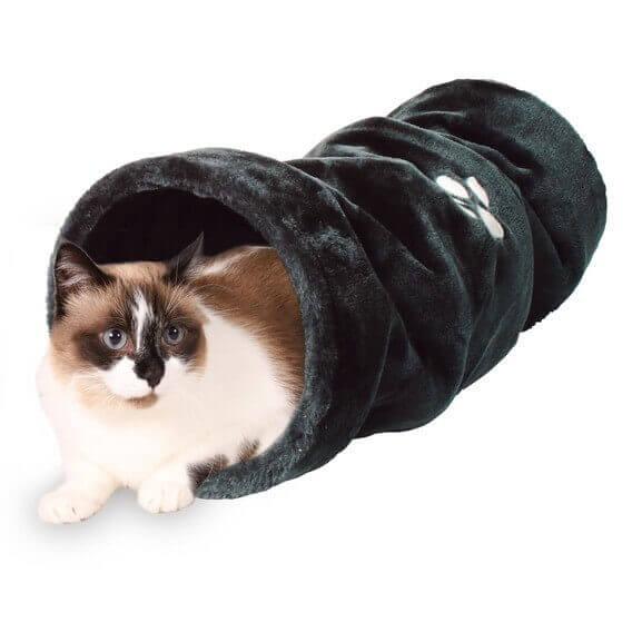 tunnel de jeu en peluche 60cm jouet pour chat. Black Bedroom Furniture Sets. Home Design Ideas