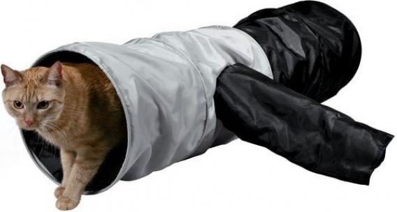 Speeltunnel in nylon, grijs en zwart