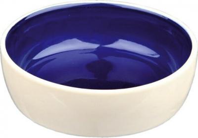 Comedero de cerámica azul&crema