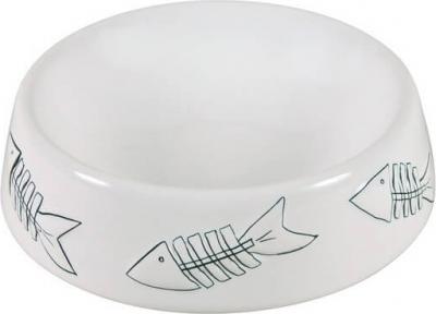Ecuelle céramique poisson blanc