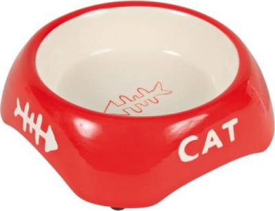 Ecuelle céramique cat design