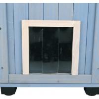 Maisonnette d'extérieur Cat's Home pour chat - bleu clair/blanc