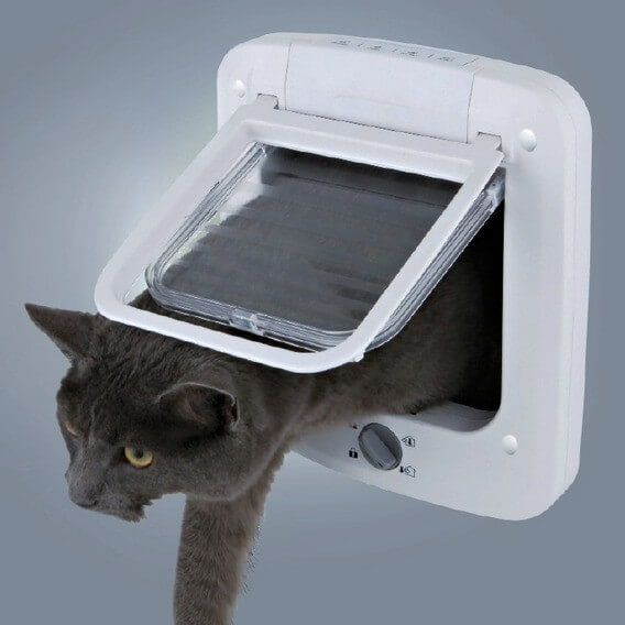 Chati re luxe 4 positions pour chat chati re filet - Chatiere pour chat ...