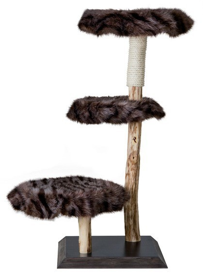 Arbre chat naturel classic no 4 vision arbre chat - Arbre a chat bois naturel ...