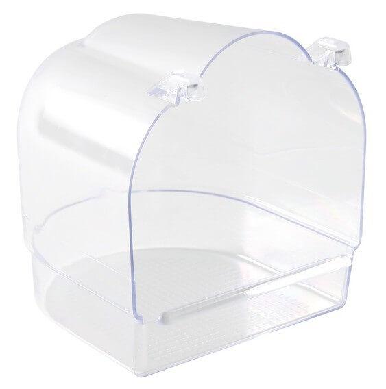 Ba era semicircular transparente accesorios para p jaros for Accesorios para banera