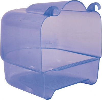 Baignoire semi-circulaire bleue transparente
