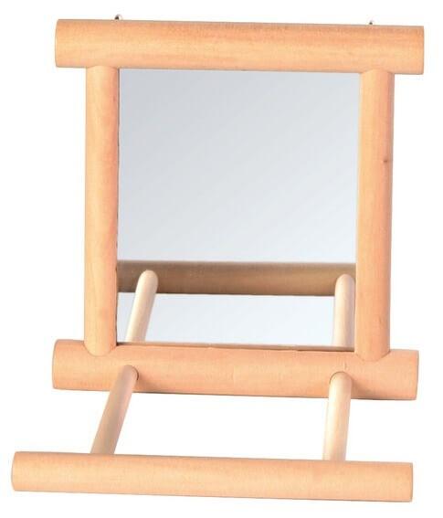 Miroir cadre bois accessoires pour oiseaux for Miroir cadre bois