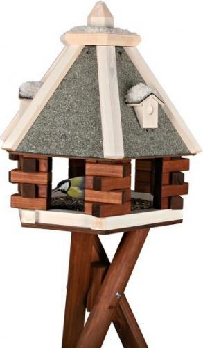 mangeoire oiseaux du ciel avec pied couverture min rale mangeoire et nichoir oiseaux. Black Bedroom Furniture Sets. Home Design Ideas