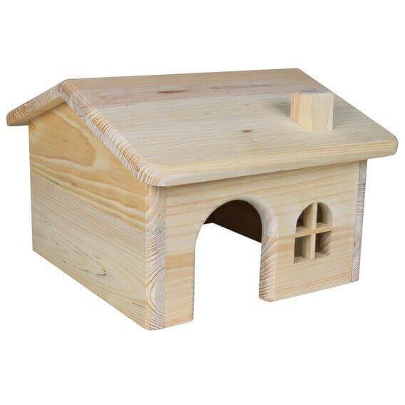 Casa de madera tejado plano casa para roedor for Tejados de madera casas