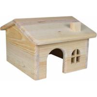 Maison en bois toit pointu