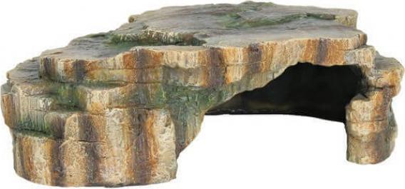 Grotte pour reptile plate