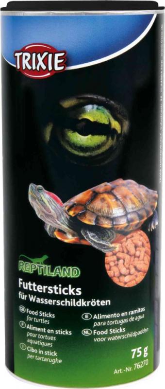 Alimentos em sticks para tartarugas
