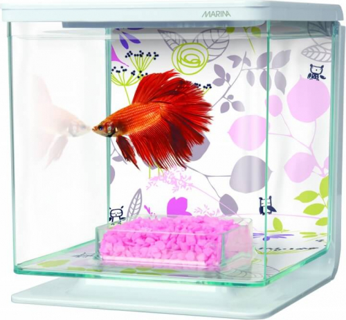 Aquarium Betta Kit Décor Floral