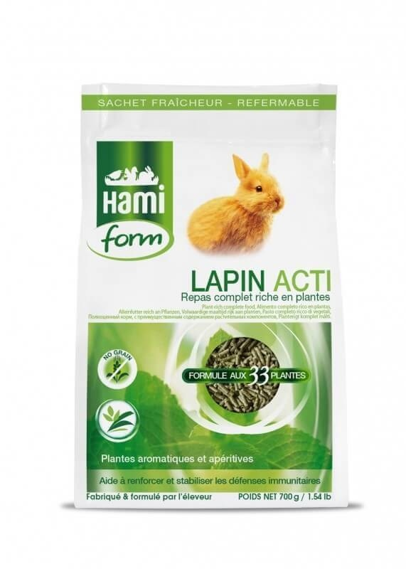 Repas complet pour lapin, Lapin Acti