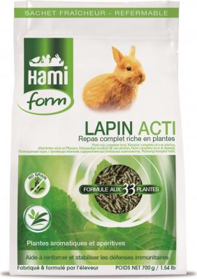 Repas complet pour lapin actif
