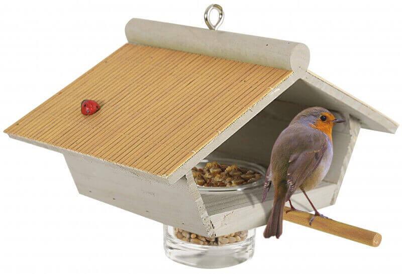 mangeoire en bois garden suspendre mangeoire et nichoir oiseaux. Black Bedroom Furniture Sets. Home Design Ideas