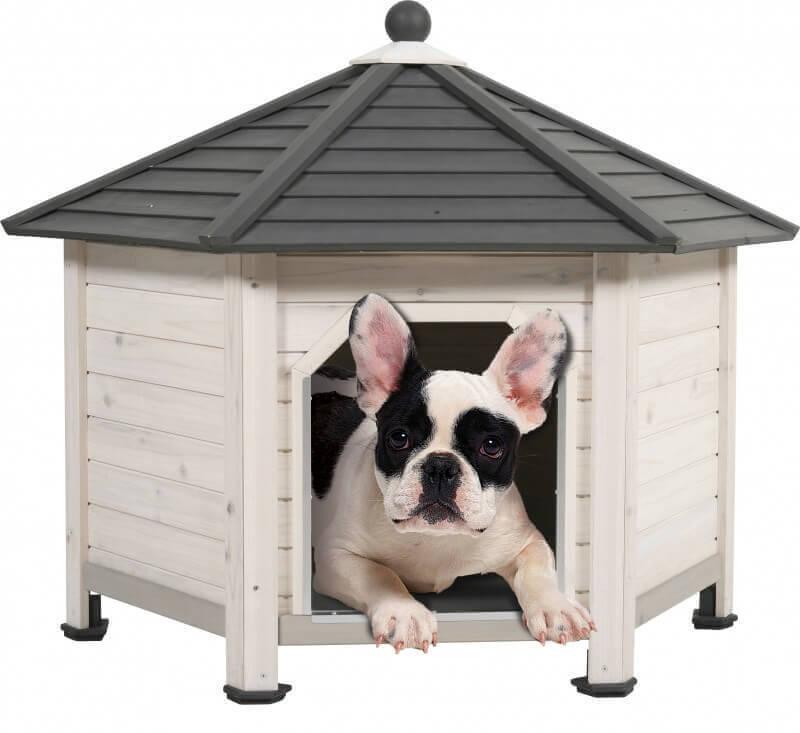Niche en bois hexa niche - Fabrication niche en bois pour chien ...