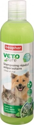 Champú Repelente antiparásitos para perro y gato Vetonature