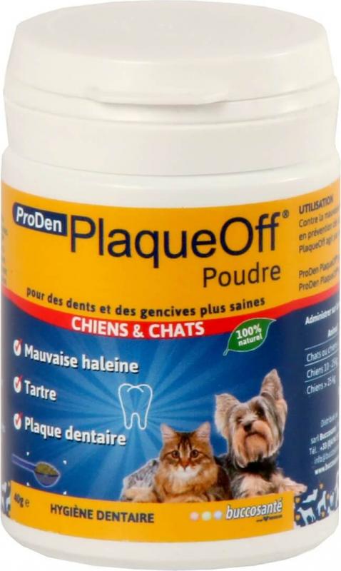 PlaqueOff ProDen Poudre dentaire pour chien et chat