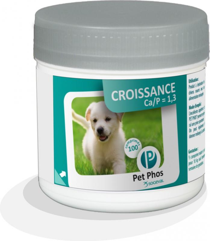 Nahrungsergänzungsmittel mit Mineralien und Vitaminen PET PHOS CROISSANCE