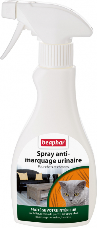 Spray anti-marquage urinaire pour chat